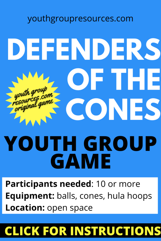 Defenders Of The Cones Youth Group Game | Youth Group Games | Games For Youth | No Prep Games
